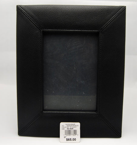 Campo Marzio Pebbled Leather Picture Frame (Black) No Box - eckoYak