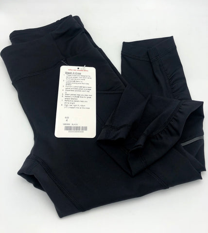 Lululemon Stash It Crop Black Full-On Luxtreme Size 4, Black - eckoYak