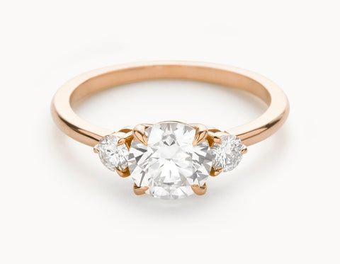Mock - The Three Stone - Rose Gold