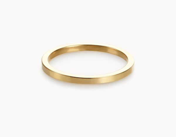 Modern 18k Yellow Gold Men's Women's Wedding Band