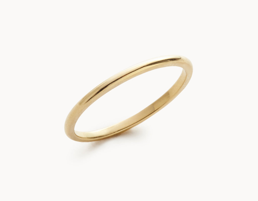 Simple 18k Yellow Gold Men's Women's Wedding Band
