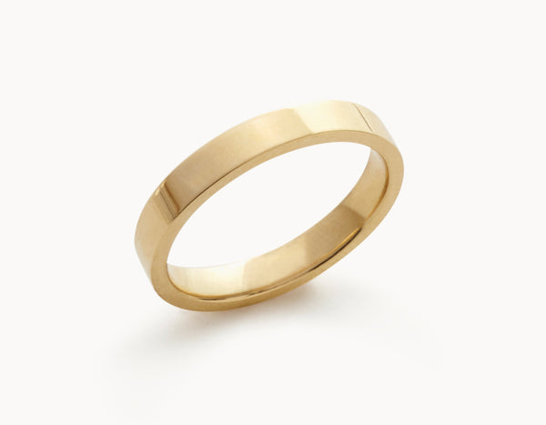 Minimal 18k Yellow Gold Men's Women's Wedding Band