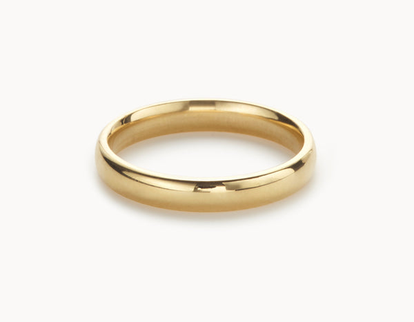Classic 18k Yellow Gold Men's Women's Wedding Band