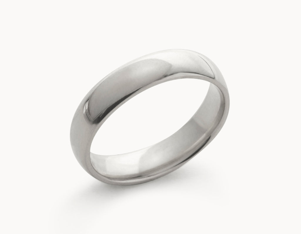 Classic 18k White Gold Men's Women's Wedding Band
