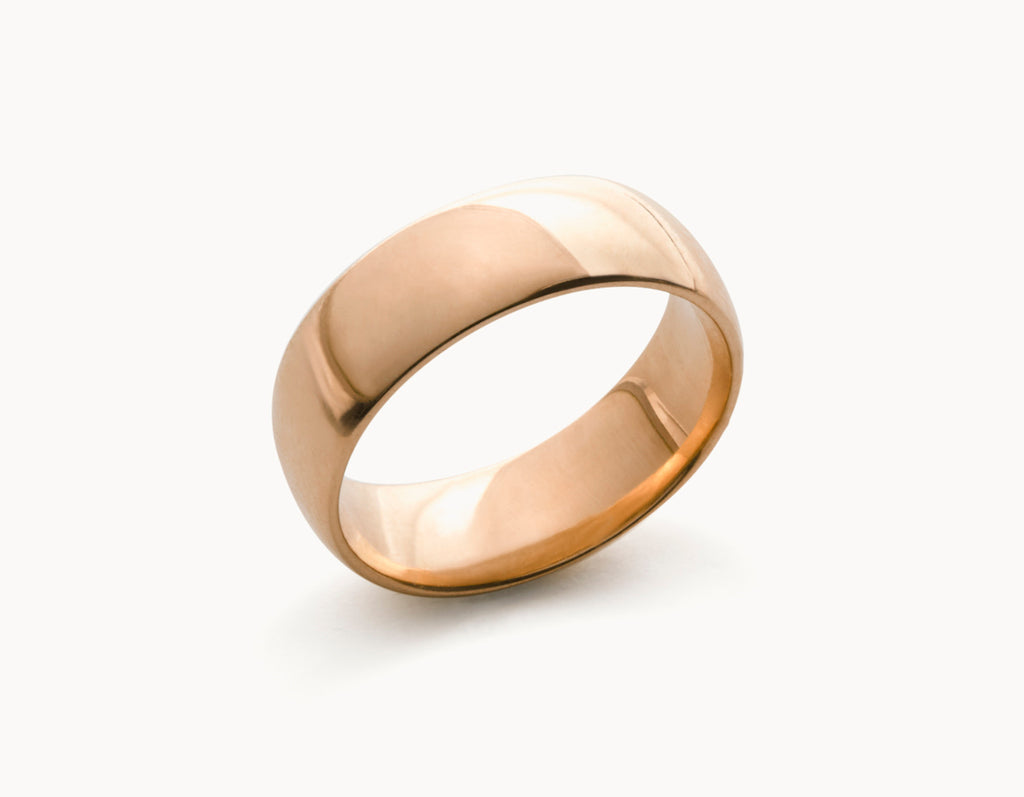 Classic 18k Rose Gold Men's Women's Wedding Band