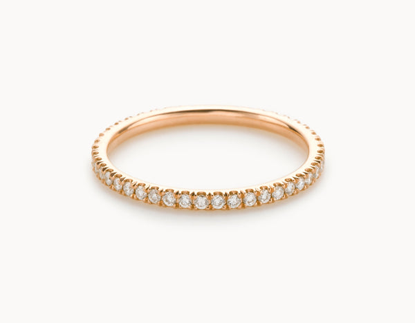 Simple 18k Rose Gold Infinity Eternity Wedding Band