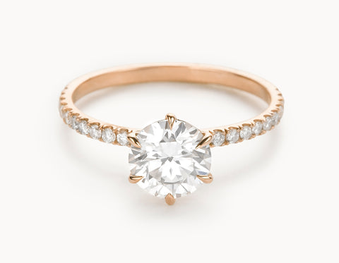 Mock - The Solitaire Pavé - Rose Gold