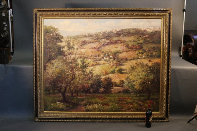 Large European Fields Painting
