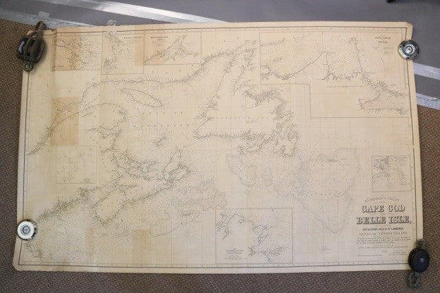 Original Eldridge Linen-Backed Canada Chart c.1893