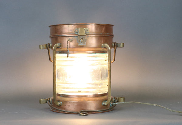 Solid Copper Ship's Lantern