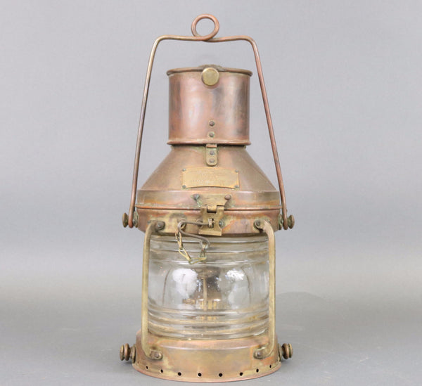 Copper Anchor Lantern, mid century