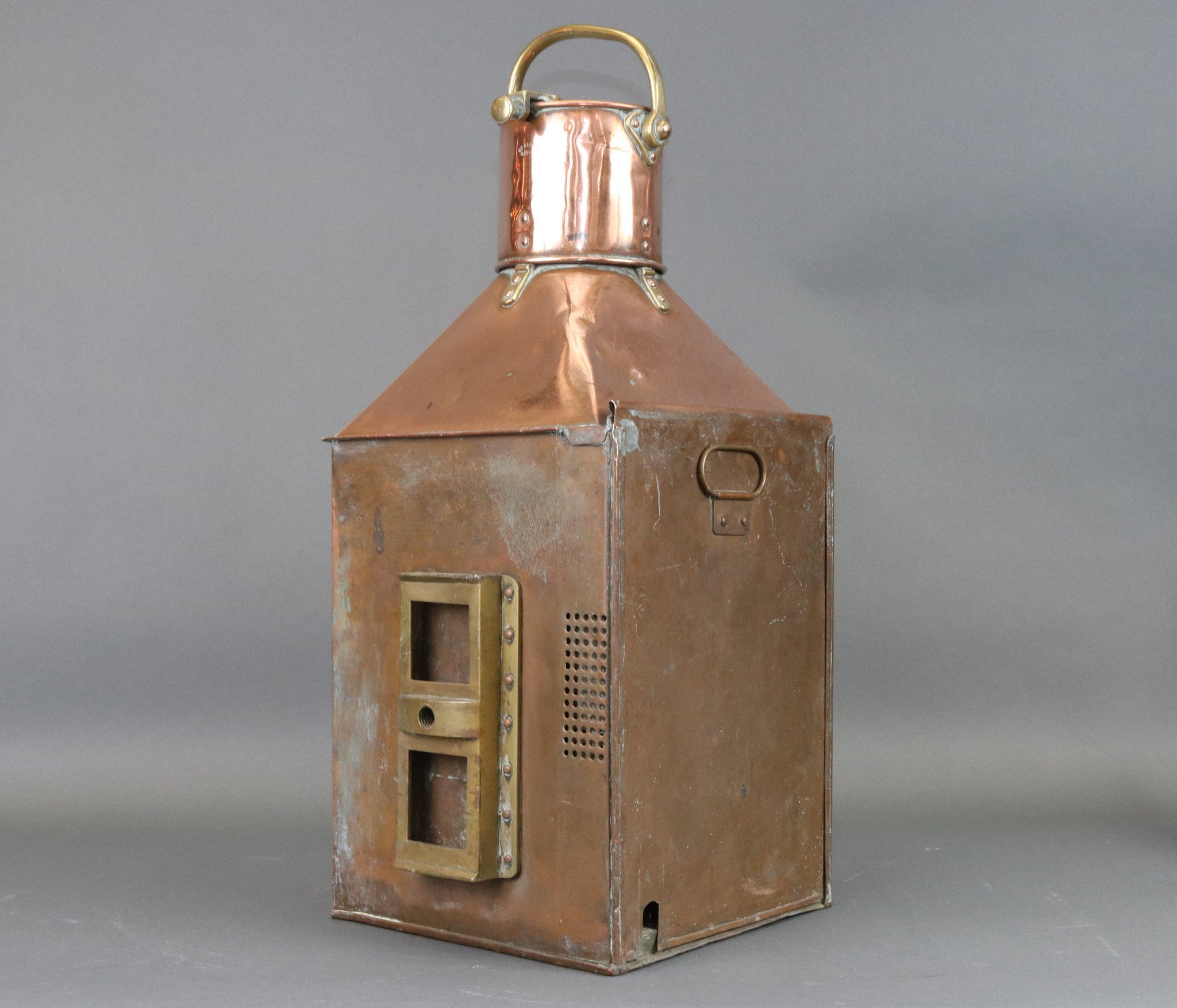 Solid Copper and Brass Starboard Lantern