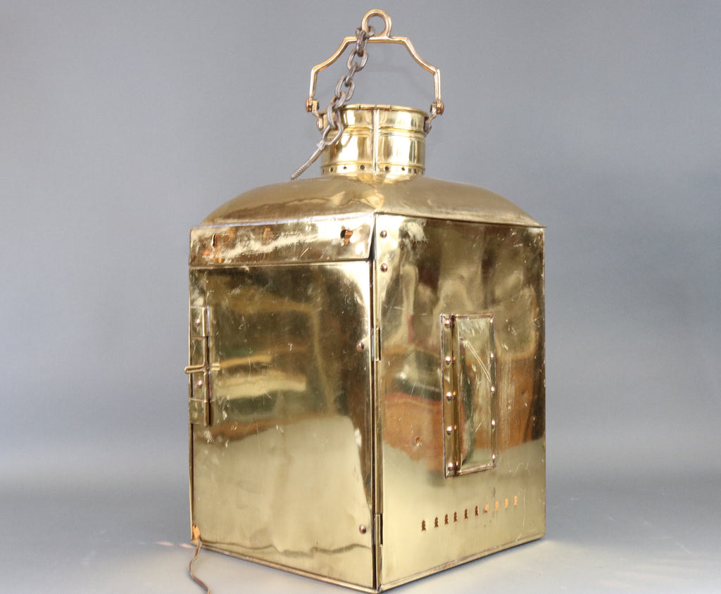 World's Largest Solid Brass Ship's Port Lantern