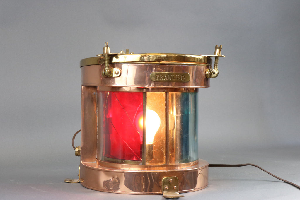 Rare Copper and Brass Trawling Lantern