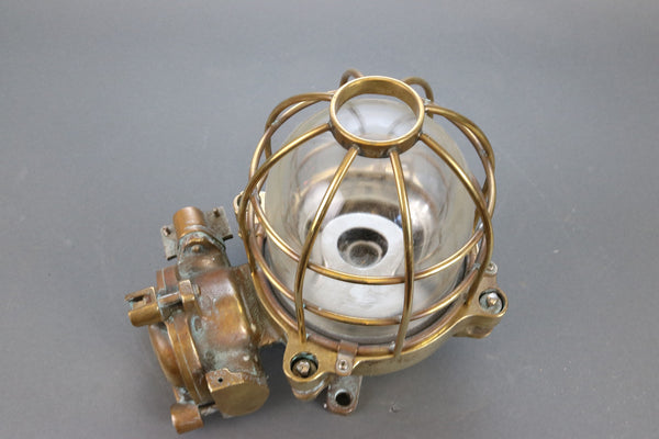 Solid Brass Merchant Ship's Light