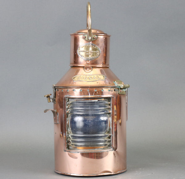 1954 English Ship's Signal Lantern by Davey