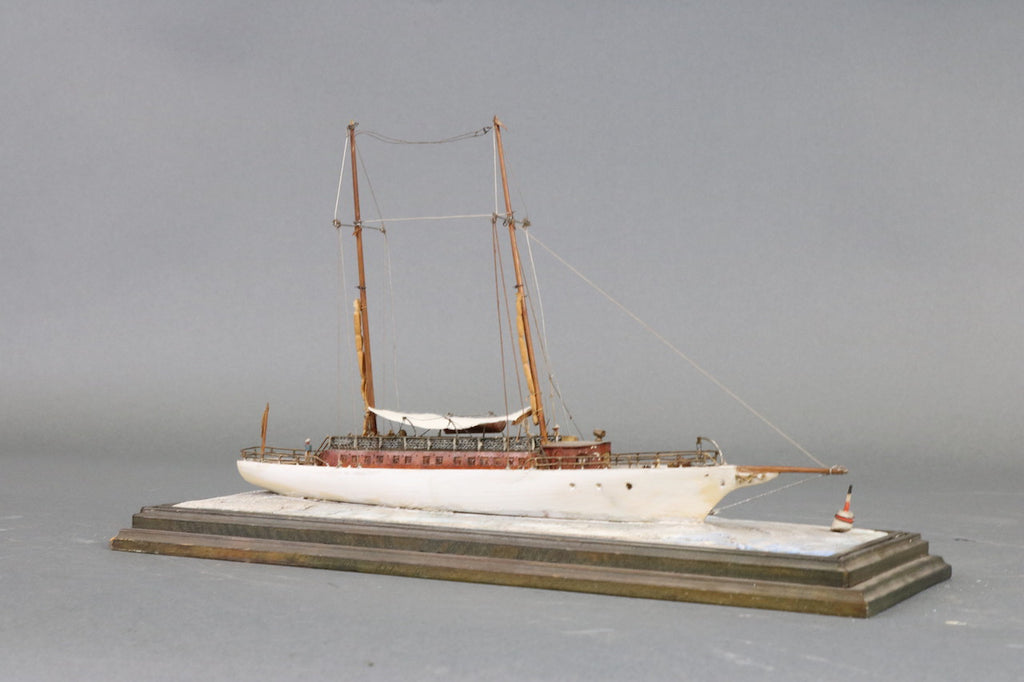 Detailed Model of Schooner Yacht Lavinan