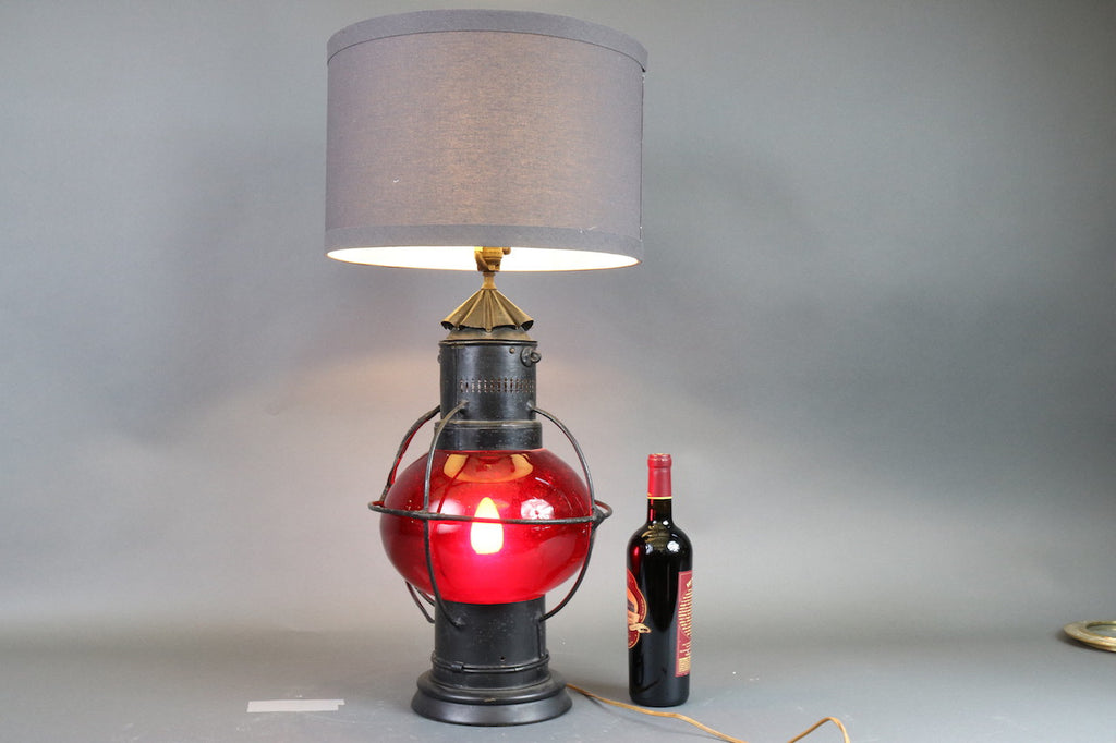 Ruby Red Marine Lantern Lamp