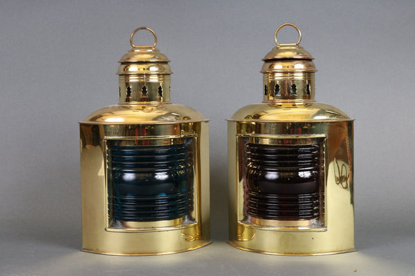 Solid Brass Port & Starboard Lanterns