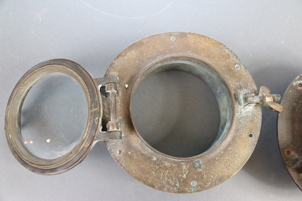 Pair of Solid Brass Boat Porthole