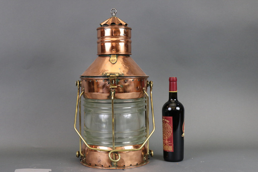 Polished & Lacqured Ship's Anchor Lantern
