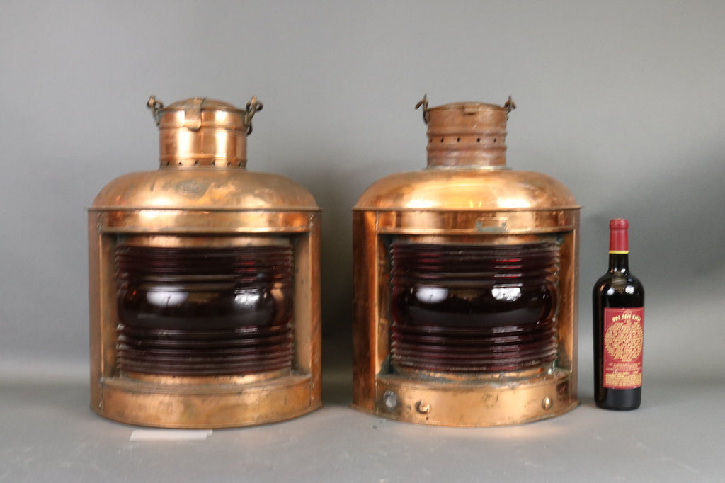 Two Copper Port Lanterns