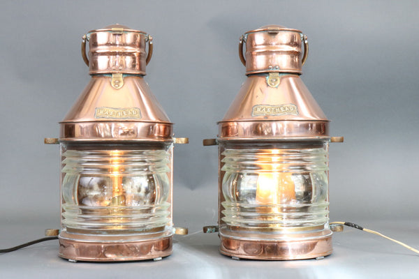 Fine Early Pair of Copper Ship's Masthead Lanterns