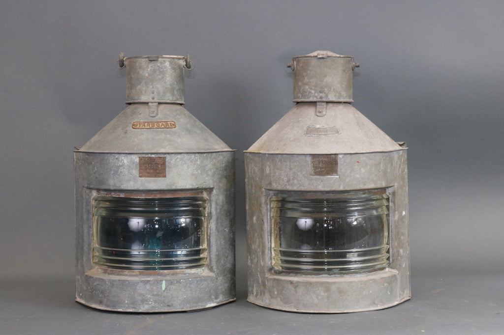 Port & Starboard Lanterns with Steel Cases