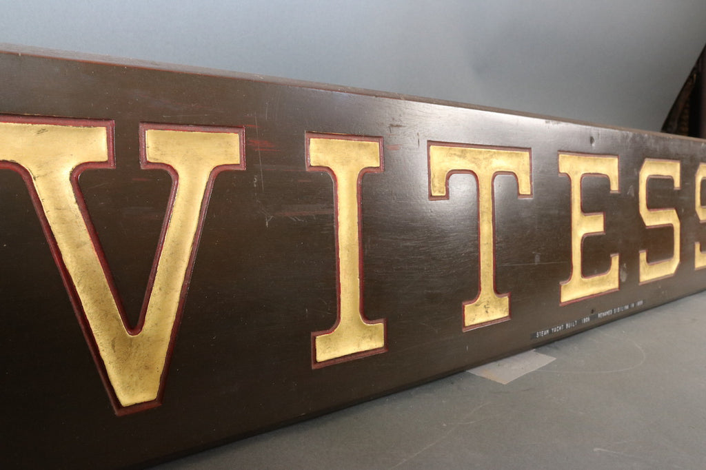 Commuter Yacht Vitesse Nameboard