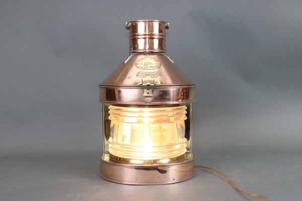Polished Copper Masthead Ship's Lantern by Tung Woo