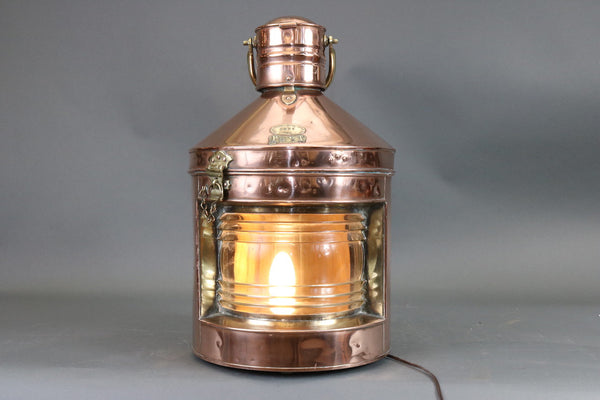 Antique Copper Ship's Lantern