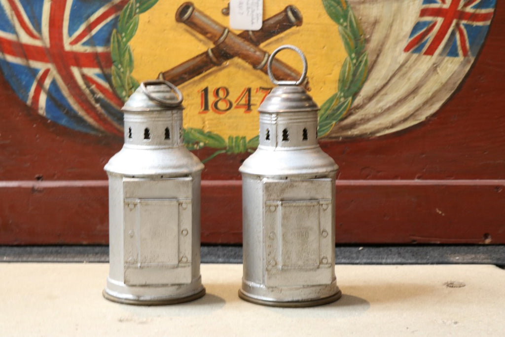 Pair of Aluminum and Brass Port & Starboard Lanterns