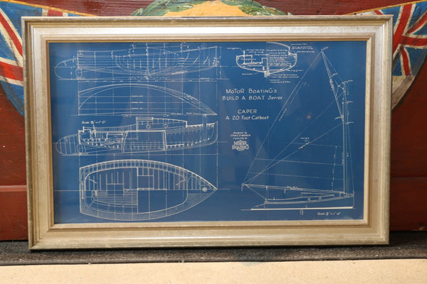 Original Motor Boating Magazine Blueprint, c. 1900s