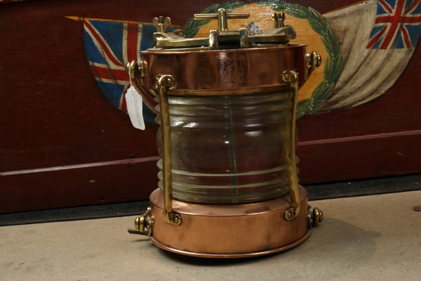 Brass and Copper Anchor Lantern