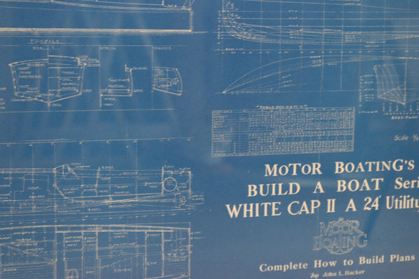 Authentic Blueprint Motor Boating Magazine, c. 1900s
