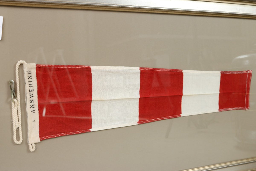 Framed Linen Answering Signal Flag