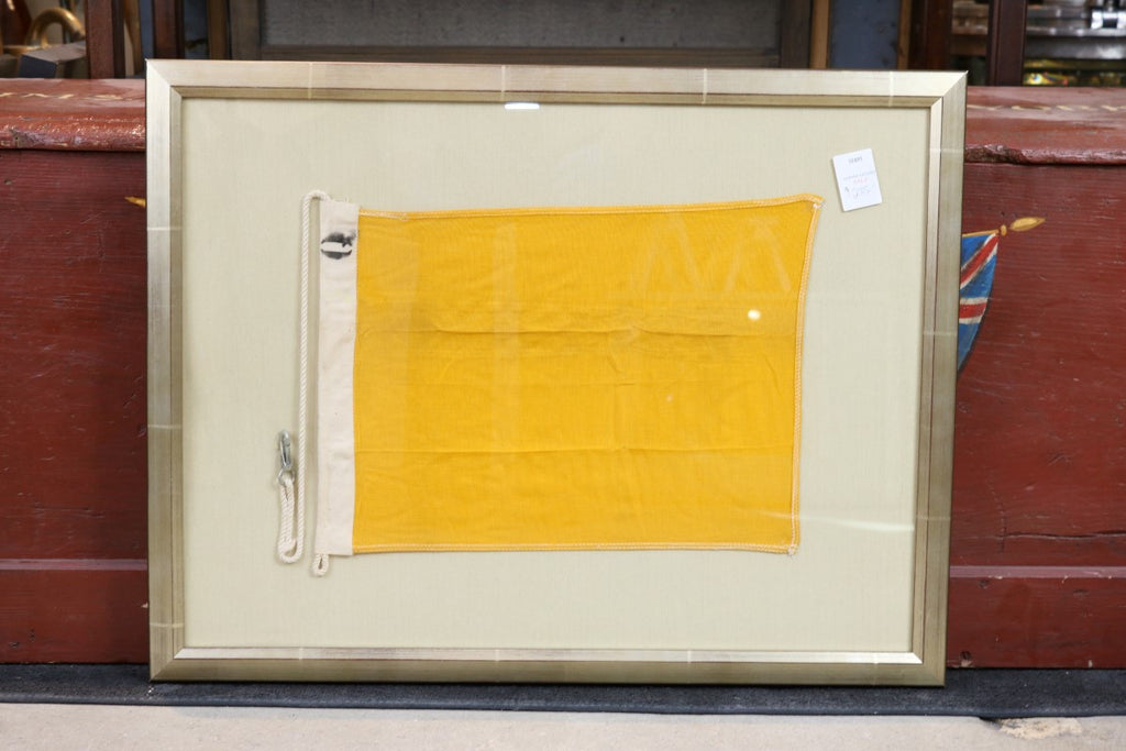 "Authentic Linen Signal ""Q"" Flag, Framed"