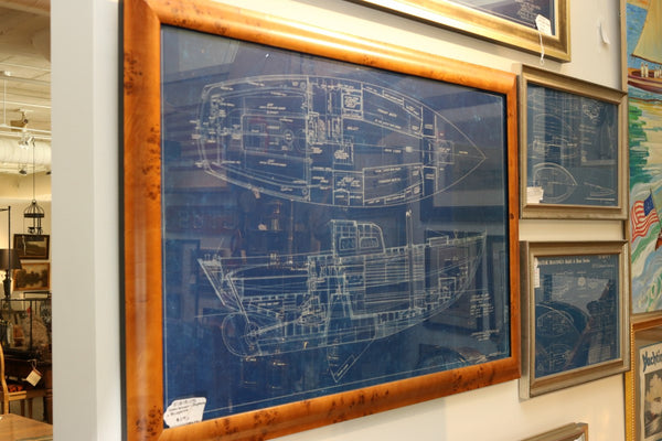 Sparkman & Stephens Blueprint of a Sloop