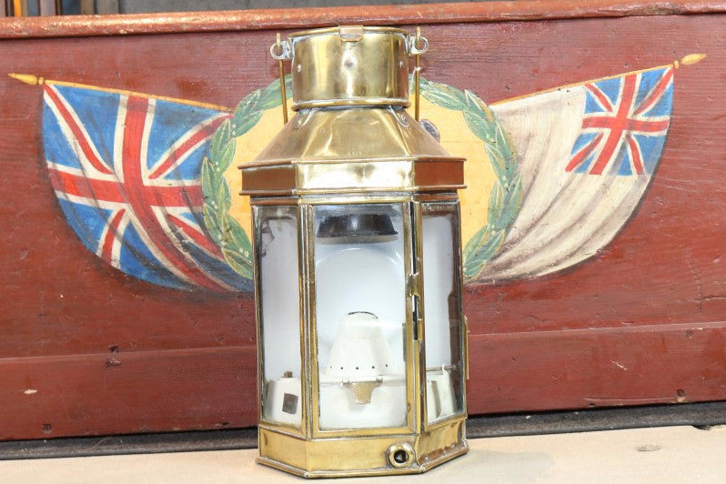 Brass Cabin Lantern by Griffth & Sons
