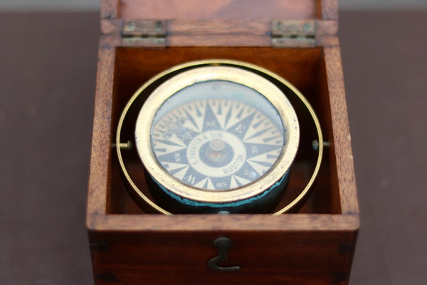 Antique Box Compass by Thaxter