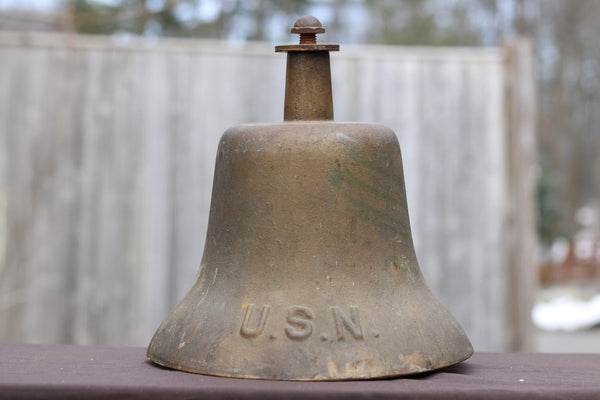 Heavy Bronze Us Navy Bell Lannan Gallery
