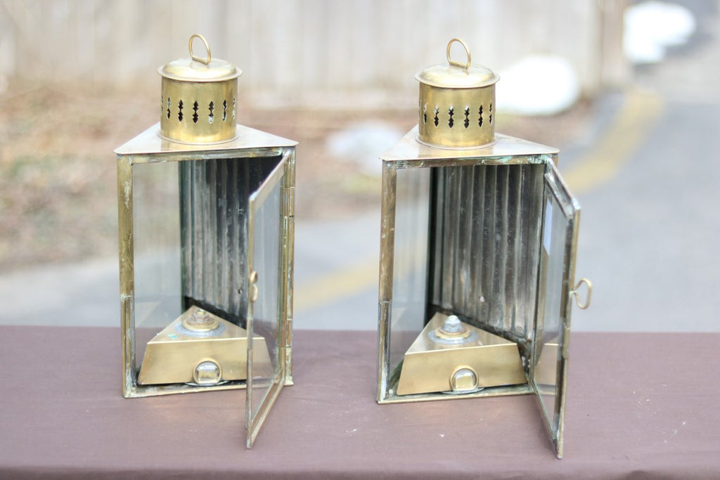 Pair of Antique Cabin Lights