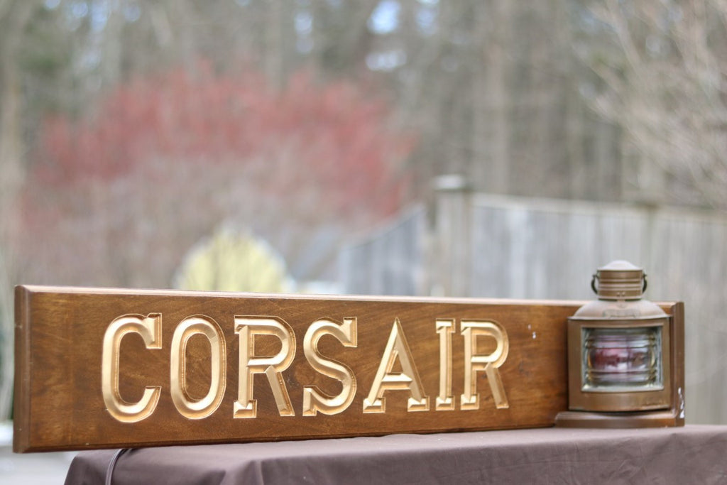"Unique Nameboard ""Corsair"" 