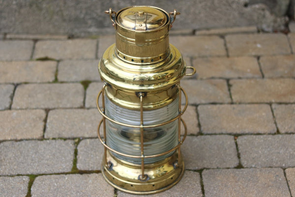 Brass Anchor Lantern by Perko
