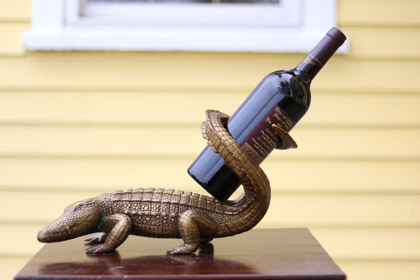Alligator Wine Holder