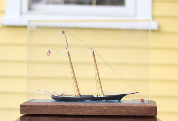 Schooner Model Diorama by William Hitchcock