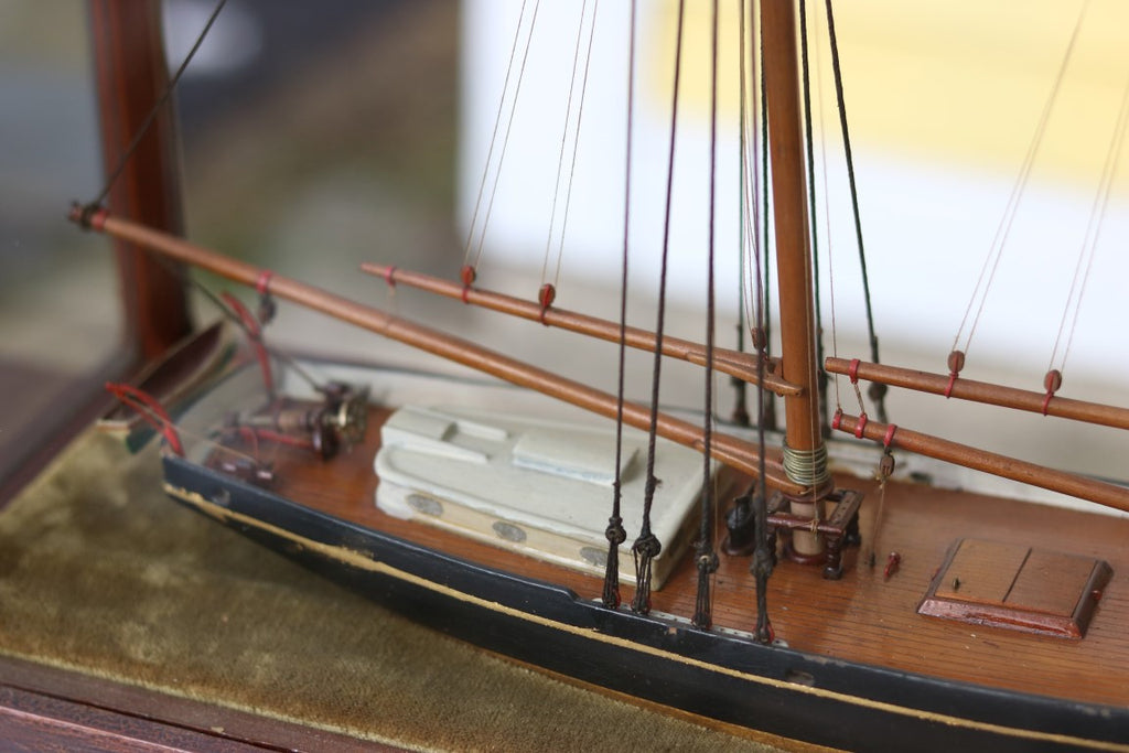 Early Schooner Model Diorama