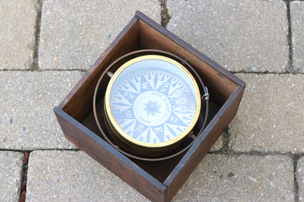 19th-Century Boxed Compass