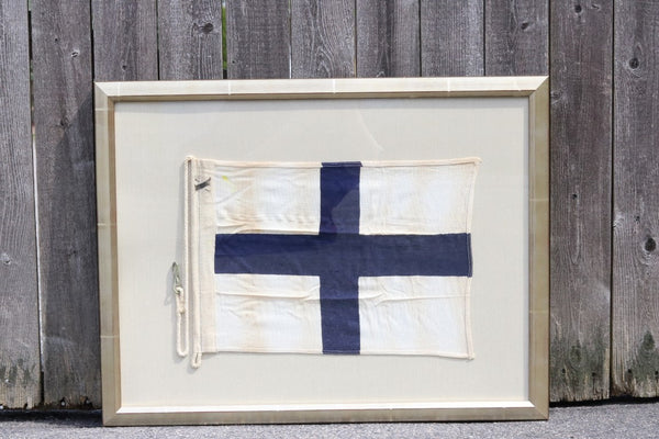 "Authentic Linen ""X"" Signal Flag"