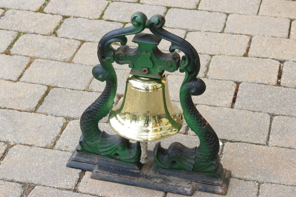 Brass Bell on Iron Frame